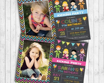 Karate Birthday Invitation Card, Karate invite, Karate party, Photo Invitation, Boy, Girl, DIgital Printable File