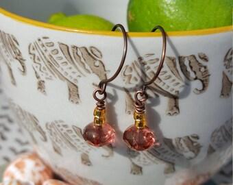 Czech Fired Glass Bead Earrings