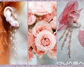 "Ear cuff ""Tender Roses"" | Earcuff, flower ear cuff, wedding accessories, summer jewelry, elven ear cuff, fairy jewelry, boho chic"