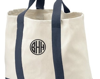 Monogrammed Tote Bag, Gift Beach Bag, Personalzed Tote, Birthday Gift Bag, Bridal Shower Tote Gift