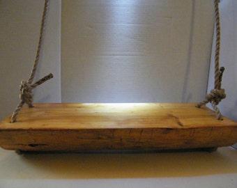 Wooden Swing, Log Swing,Tree Swing, Porch Swing