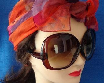 Ladies Vintage Brown Very large Oversized Sunglasses