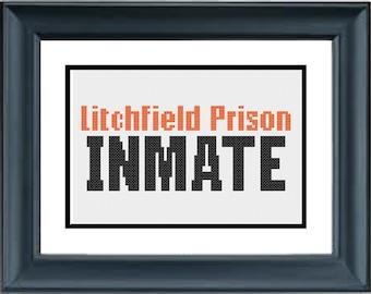 Litchfield Prison Inmate - Orange is the New Black - PDF Cross-Stitch Pattern - Netflix