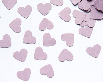 300 Lavender Heart CONFETTI. Lilac heart confetti for wedding, scrapbooking, parties, decorations. Table Scatter - baby shower - wedding