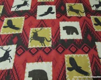 Flannel Fabric - Wilderness Patch - 1 yard - 100% Cotton Flannel