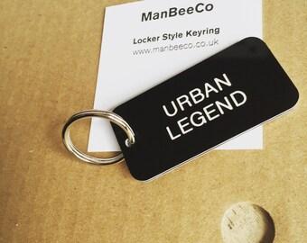 URBAN LEGEND Locker style keyring keyfob keychain