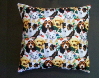 CHRISTMAS DOG PILLOW! ~ Several Sizes Available!