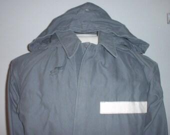 Dutch Army (?) NBC (?) Rain (?) coat size medium; 1967