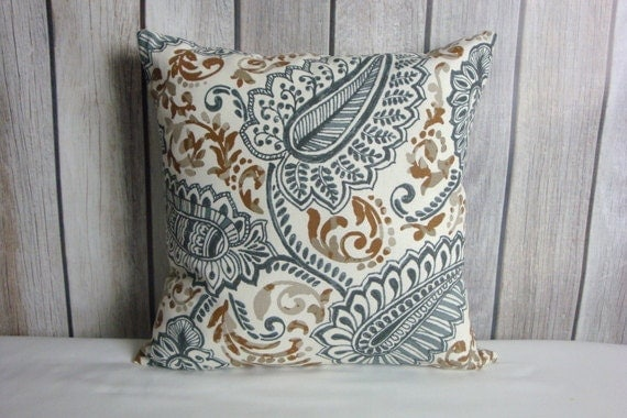 Throw Pillow. Brown Pillow. Leaf Pillow. Pillow Cover.