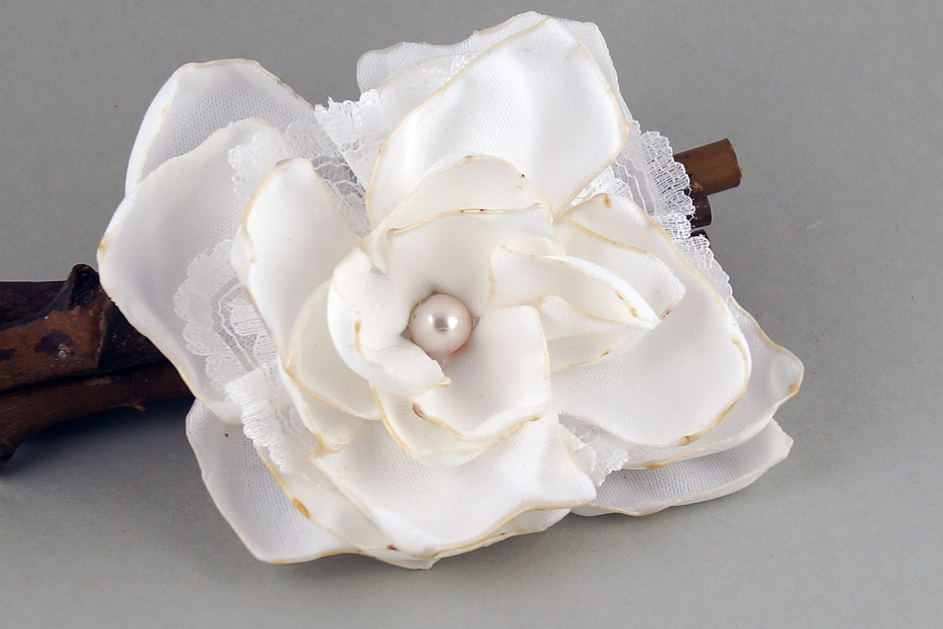Corsage Of Ivory Old Whiteivory Flower Girls Hair Flower Hair