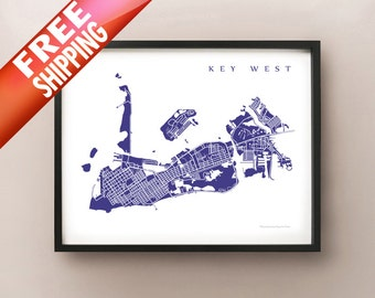 Key West Map Print