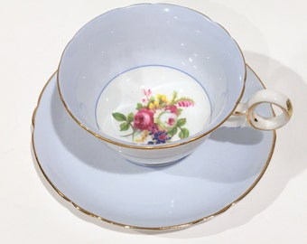 Chester Style Shelley Tea Cup and Saucer, Circa 1940, Tea Set, Vintage Tea Cups, China Tea Cups, Antique Tea Cups, Hulmes Rose