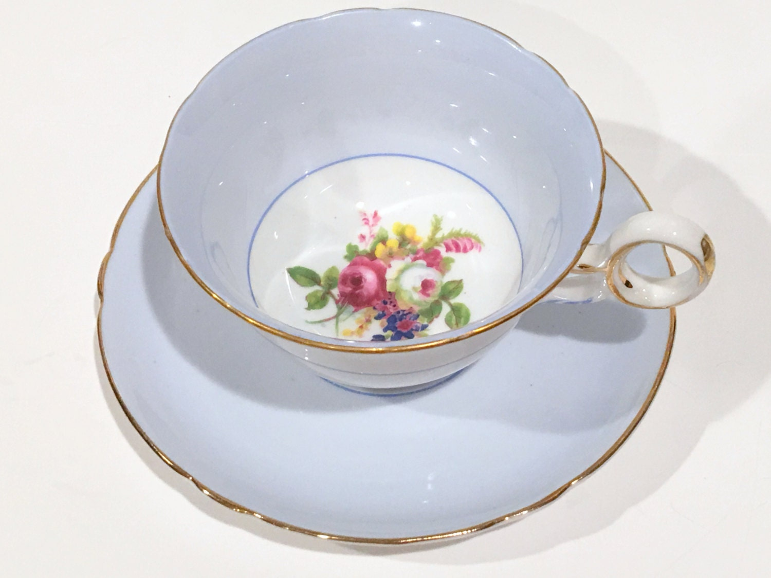 Cup and saucer vintage Etsy