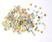 Superman party table confetti: 500 star shaped pieces from vintage comic books. Party decoration, table confetti or for use in crafts.