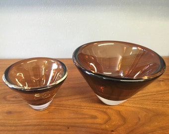 SALE 195 WAS 295.. 1950s Swedish Bowls By Kosta Boda. Free Shipping!