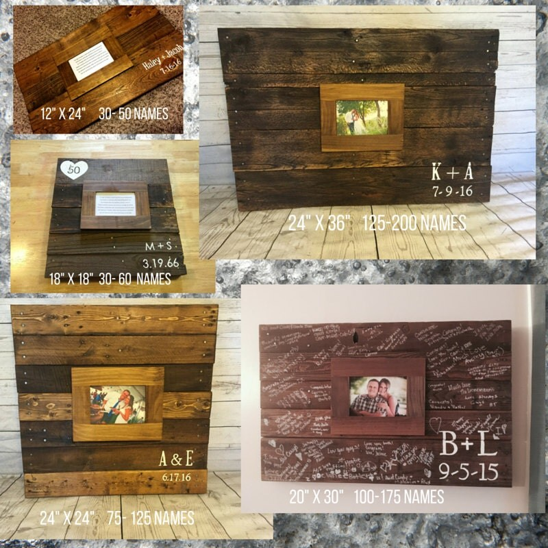 20 x 30 Alternative Guest book Wood pallet by RusticRestyle
