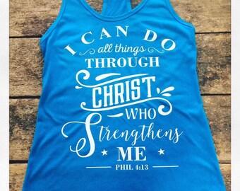 Philippians 4:13 Racerback Tank