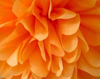 Apricot tissue pom pom/party poms/birthday pompoms/DIY/Baptism/baby shower/hanging poms/nursery pom pom/pompoms/party decorations