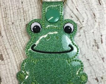 Frog - Toad - Snap/Rivet Key Fob - DIGITAL Embroidery Design