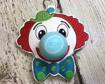 5 x 7 ONLY ITH Clown - Circus - Sphere/Egg Lip Balm Holder - Lip Gloss - Design - DIGITAL Embroidery Design