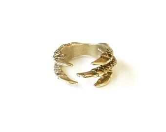Monterrico Ring - Deconstructed Iguana Toes - Bronze Cast