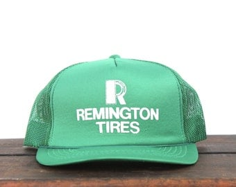 Vintage Trucker Hat Snapback Baseball Cap Remington Tires