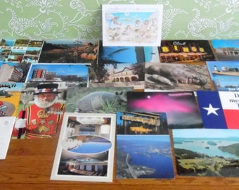 Collection of vintage post cards from all over the world.