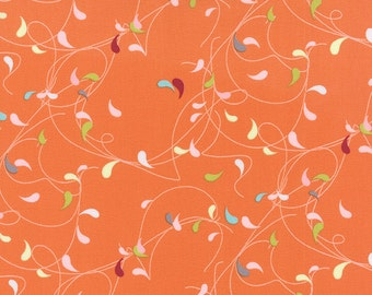 1/2 Yard - Flow - Splash - Orange - Zen Chic - Brigitte Heitland - Moda - Fabric Yardage - 1591 11