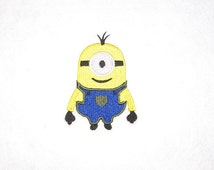 One Eyed Minion Iron on No Sew Embroidered Patch Applique
