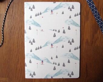 Nouveau! Cahier imprimé Skieur
