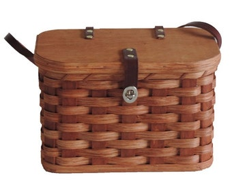 Amish Handmade Fishing/Tackle Box Basket