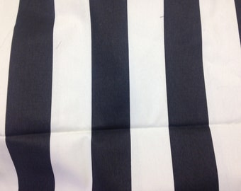 1-1/2 yards Vertical Stripe Chocolate/natural Cotton Fabric, Premier Prints Home Decorating Fabric-C 19