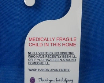 Door Hanger for Medically Fragile Child