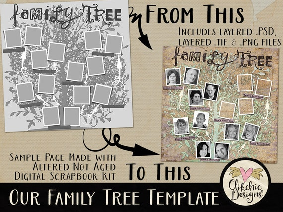 family tree digital template our family tree heritage