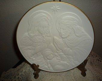 Holy Family Nativity Vignettes Collector's Plate