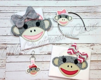 Sock Monkey Girl SET