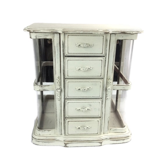 jewelry box white jewelry armoire large jewelry by. Black Bedroom Furniture Sets. Home Design Ideas