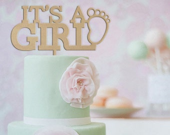 Cake Toppers  cake centerpieces weddings cake topper Its a girl