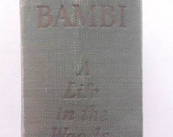 First American Printing, 1928, Bambi A Life in the Woods