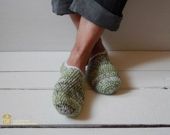Crochet  Wool Slipper Mens Slippers, Mens House Slippers, Teen Boy Slippers, Gift for Dad, Gift for Men, Gift for Him, Fathers Day, Crochet