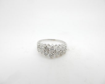 14K White Gold 1.00cttw F/SI Round Brilliant Diamond Wedding Ring sz 8.75