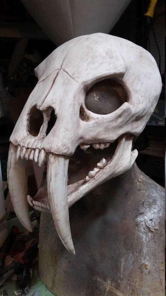 Sabertooth cat skull mask