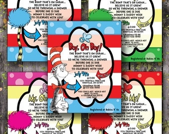 Dr. Suess Baby Shower Invitations
