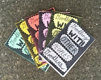 Doodling With Other Peoples' Doodlers - Folding art zine.