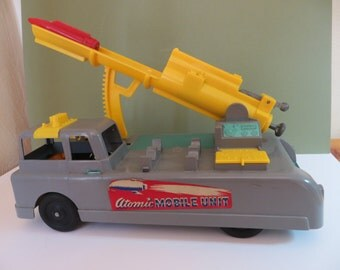 1956 Ideal Atomic Rocket Launch Truck with original box