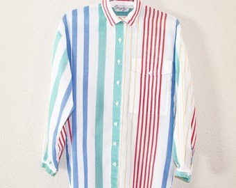 Vintage Striped Shirt by Shapely, size P