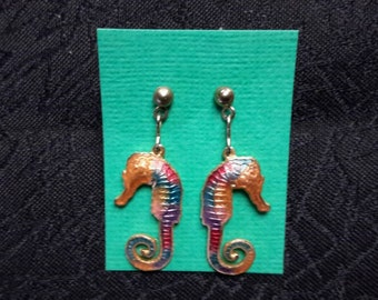 Seahorse earrings- free shipping