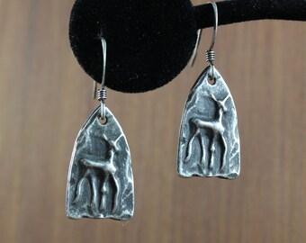 Deer ~  Cave Art ~ Tribal  earrings