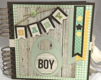 "Baby Boy Journal /Photo Album 8"" x 8"" inches"
