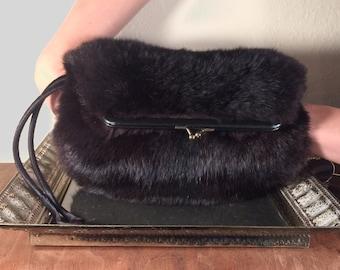 Vintage Ingber Fur Muff Purse/Clutch/Handbag